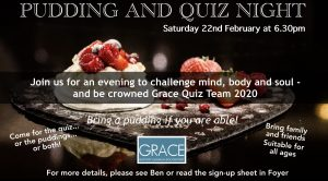 Pudding and Quiz Night @ Grace Baptist Church