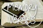 Memory Verses